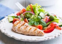 Chicken dinner with salad