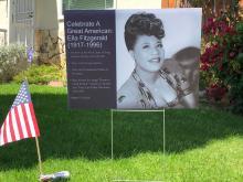 Sign about Ella Fitzgerald